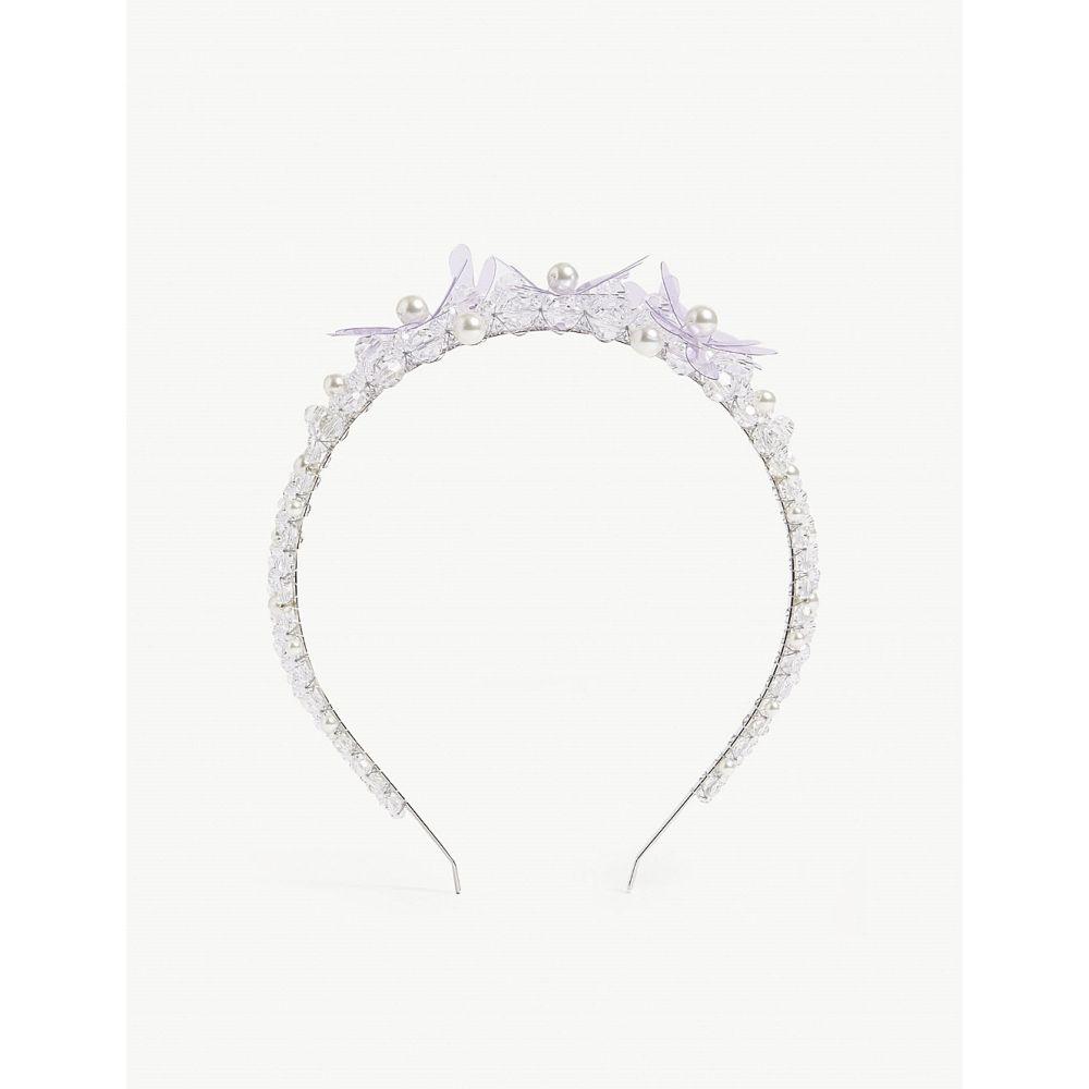 シモーネ ロシャ simone rocha レディース ヘアアクセサリー【floral crystal tiara】Lilac