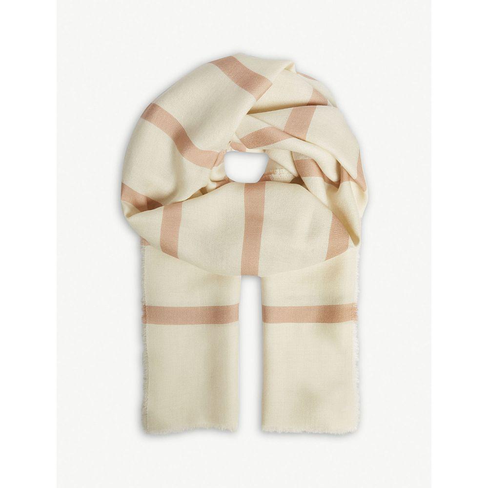 マックスマーラ max mara レディース マフラー・スカーフ・ストール【stripe cashmere scarf】Powder