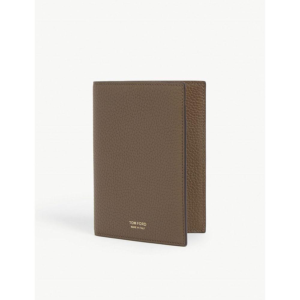 トム フォード tom ford メンズ パスポートケース【pebbled leather passport holder】Khaki