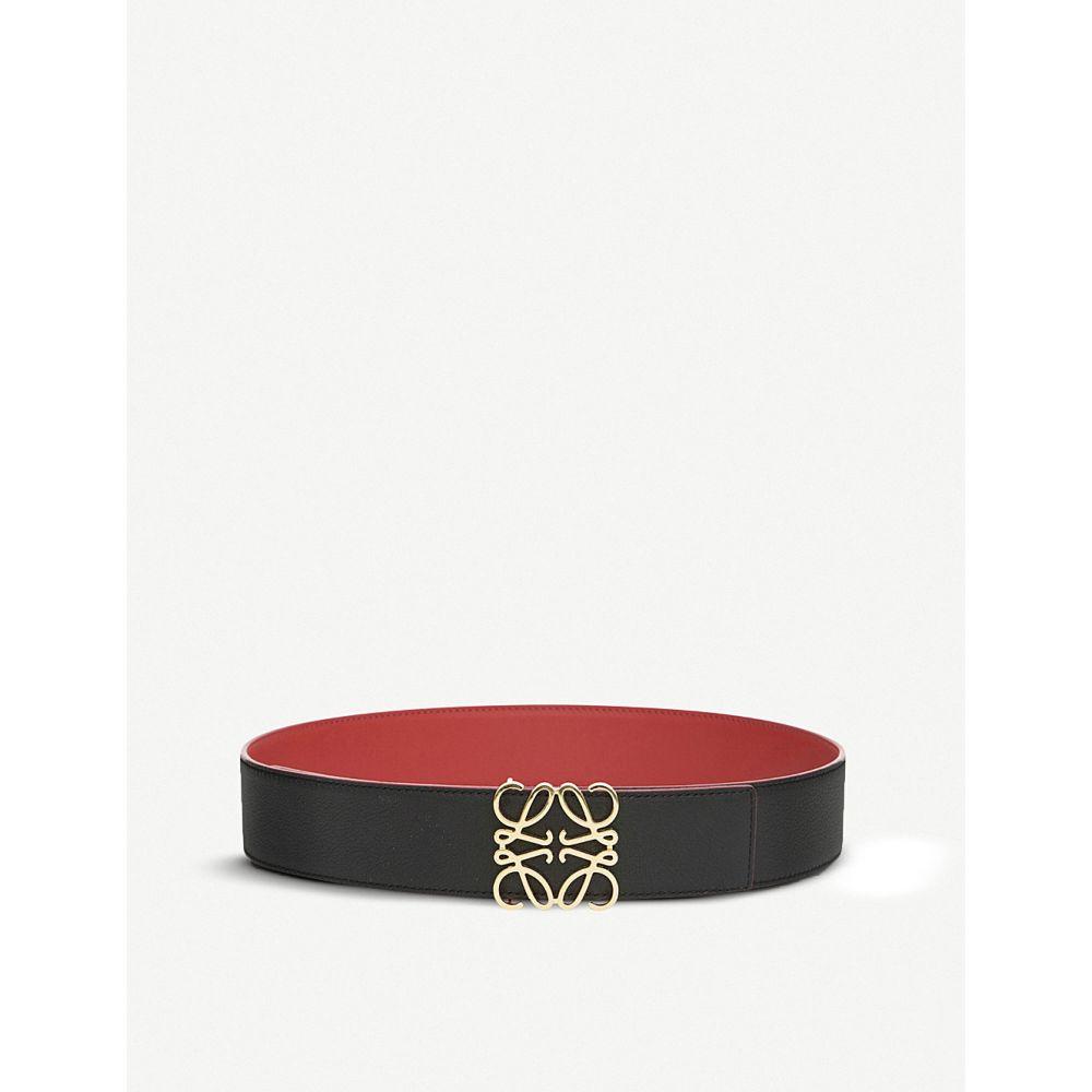 ロエベ loewe レディース ベルト【anagram leather belt】Red/black/gold