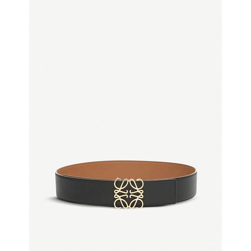 ロエベ loewe レディース ベルト【anagram leather belt】Tan/black/gold