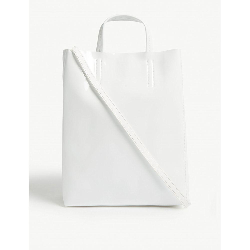 アクネ ストゥディオズ acne studios レディース バッグ トートバッグ【mini baker patent leather tote】White