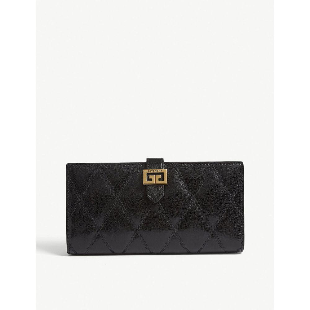 ジバンシー givenchy レディース 財布【gv3 quilted leather long wallet】Black