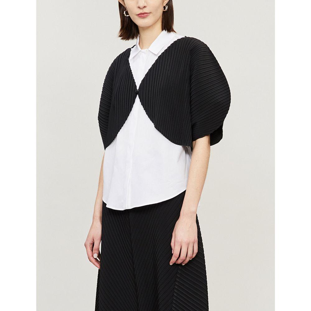 イッセイ ミヤケ issey miyake レディース トップス ブラウス・シャツ【bloom pleated shawl】Black