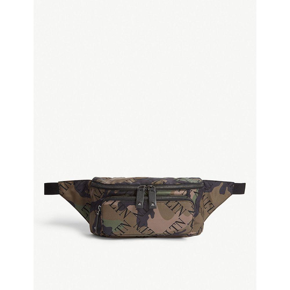 ヴァレンティノ valentino メンズ バッグ ボディバッグ・ウエストポーチ【camouflage logo nylon belt bag】Black