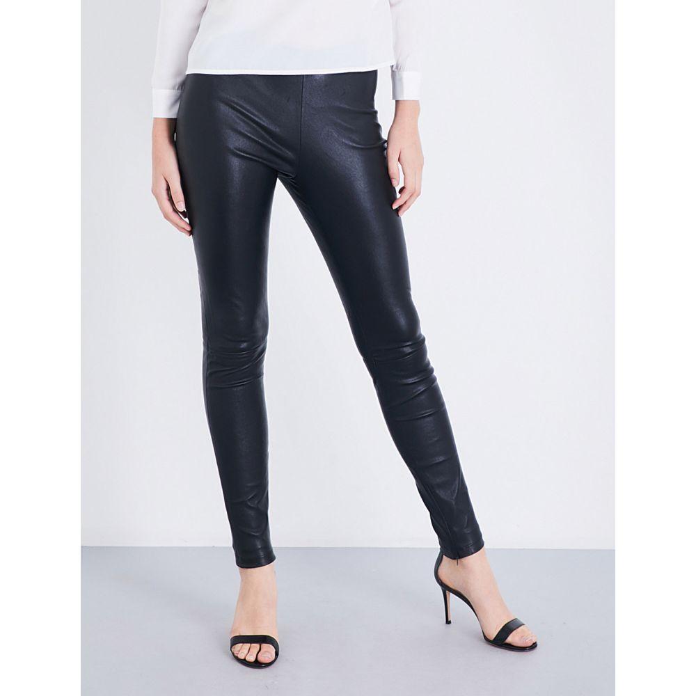 マージュ maje レディース ボトムス・パンツ【smarto high-rise stretch-leather leggings】Black