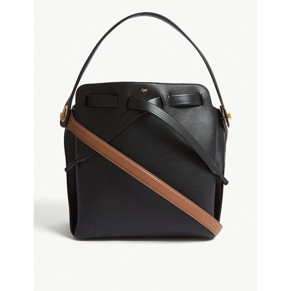 アニヤ hindmarch ハインドマーチ anya hindmarch bag】Black レディース バッグ バッグ ハンドバッグ【shoelace two-tone leather bucket bag】Black, ウェリントン:e8e59246 --- sunward.msk.ru