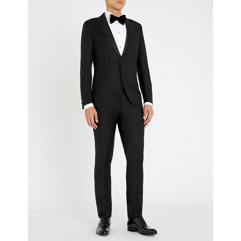 イレブンティ eleventy メンズ アウター スーツ・ジャケット【peak-lapel slim-fit wool suit】Black