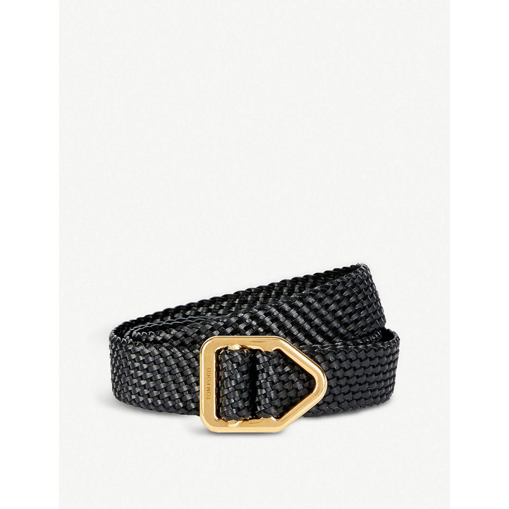トム フォード tom ford メンズ ベルト【braided leather belt】Black