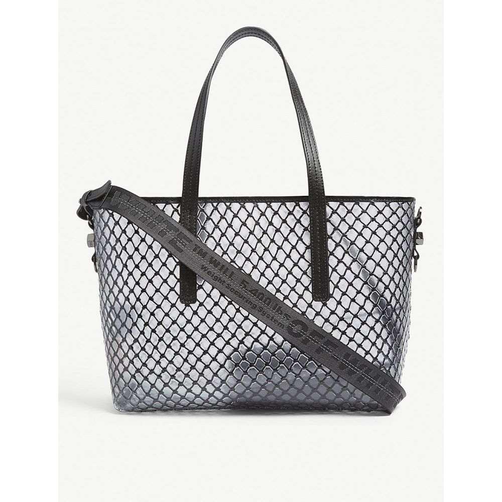 オフホワイト off-white c/o virgil abloh レディース バッグ トートバッグ【pvc net shopper bag】Black