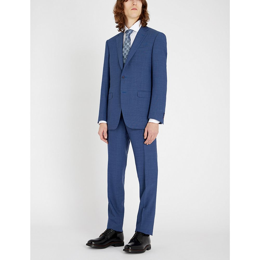 カナーリ canali メンズ アウター スーツ・ジャケット【impeccable slim-fit wool three-piece suit】Lt blue