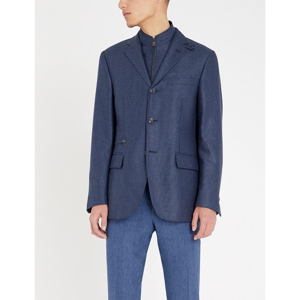 コルネリアーニ corneliani メンズ アウター スーツ・ジャケット【id regular-fit silk-blend blazer】Lt navy