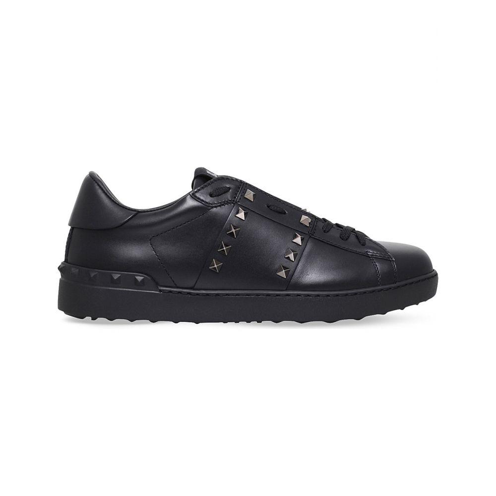 ヴァレンティノ valentino メンズ テニス シューズ・靴【rockstud studded leather tennis shoes】Black