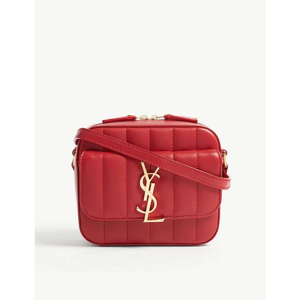 イヴ サンローラン saint laurent レディース バッグ【vicky toy quilted leather camera bag】Red