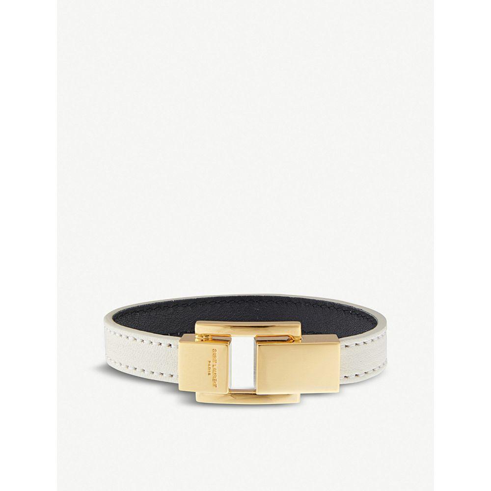 イヴ サンローラン saint laurent レディース ジュエリー・アクセサリー ブレスレット【classic leather bracelet】White/gold
