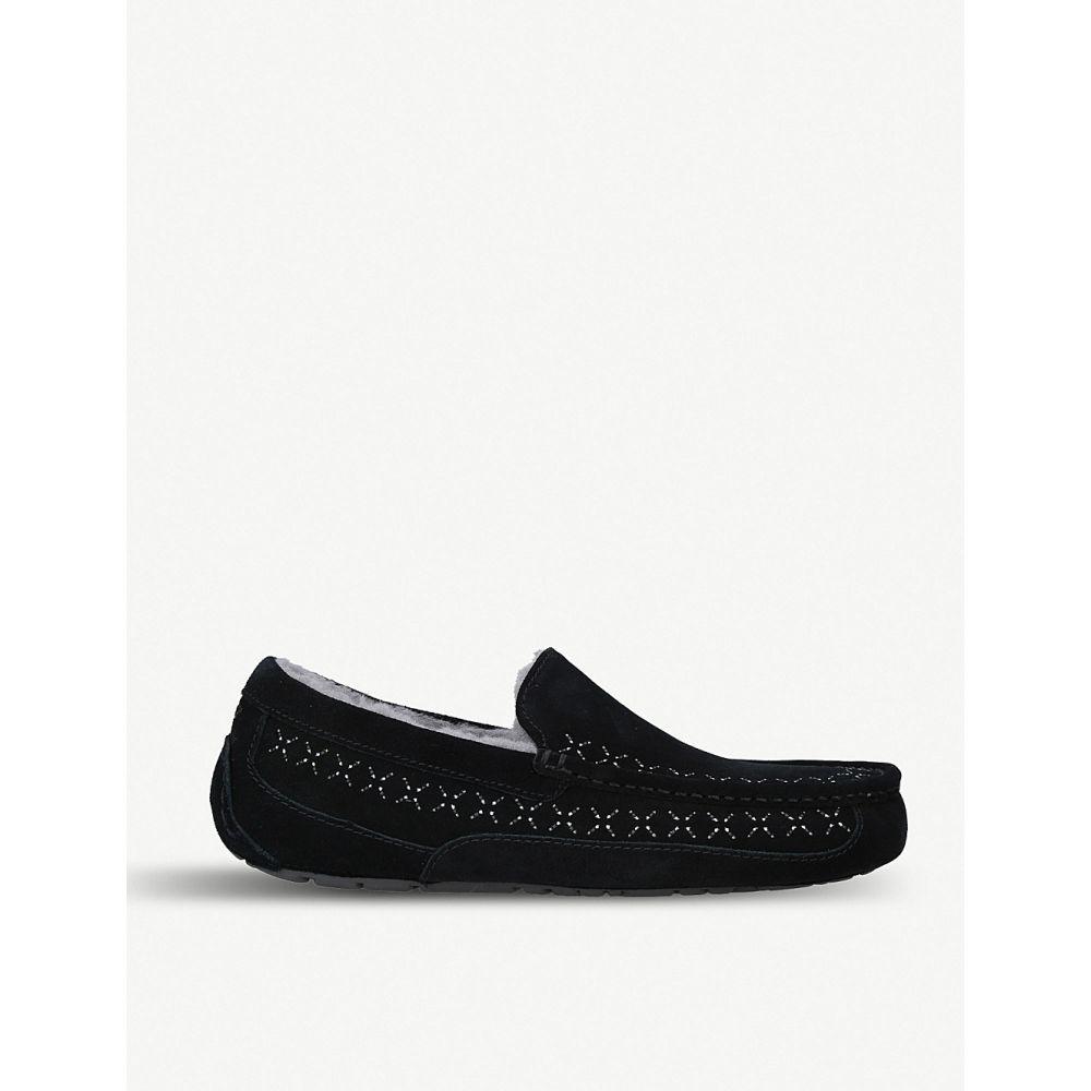 アグ ugg メンズ シューズ・靴 ローファー【ascot stitch-detail suede loafers】Black