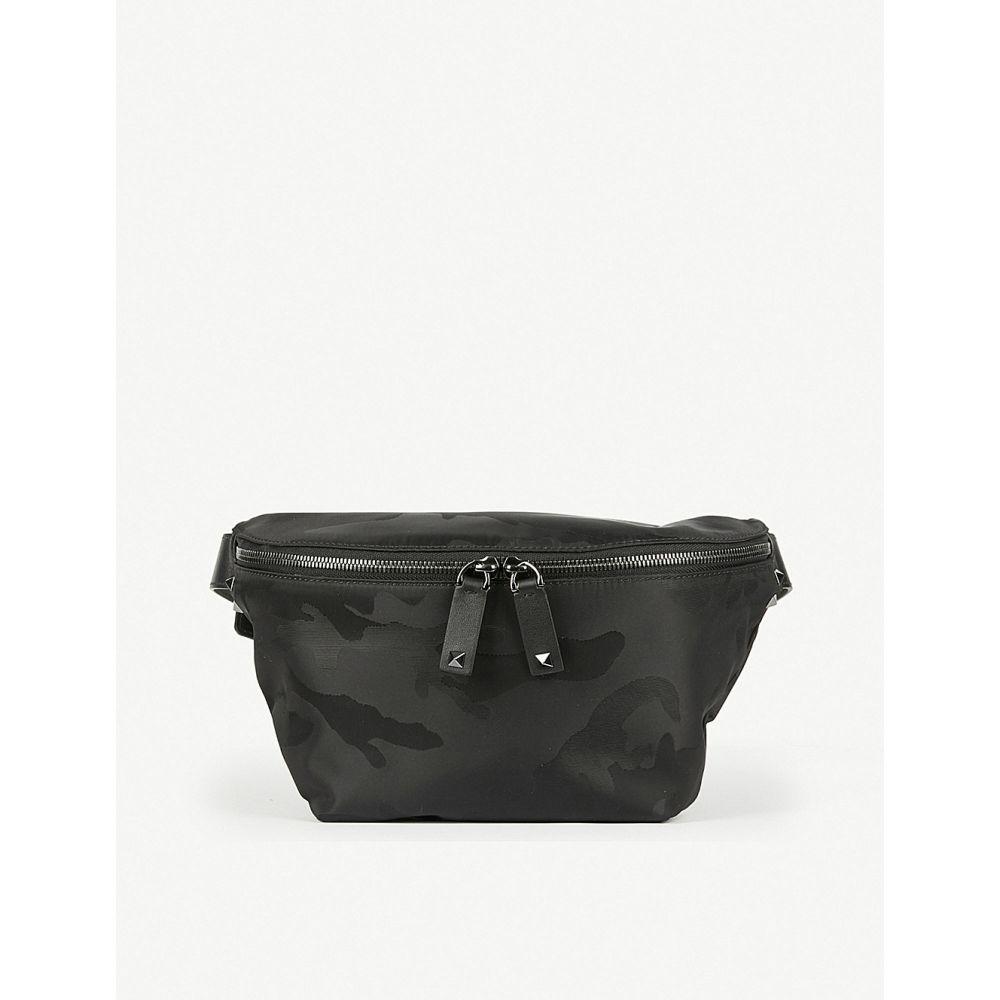 ヴァレンティノ valentino メンズ バッグ ボディバッグ・ウエストポーチ【camouflage jacquard belt bag】Black