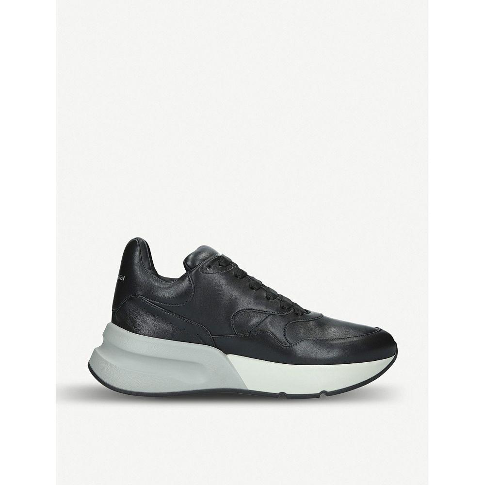 アレキサンダー マックイーン alexander mcqueen メンズ ランニング・ウォーキング シューズ・靴【runner wedge sole leather trainers】Black