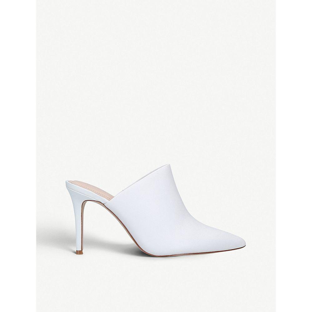 アルド aldo レディース シューズ・靴 サンダル・ミュール【mirudien leather heeled mules】White