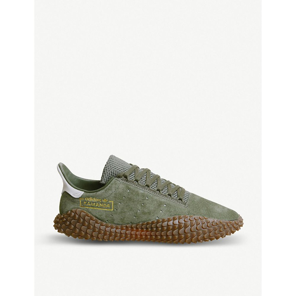 アディダス adidas メンズ シューズ・靴 スニーカー【kamanda 01 leather trainers】Base green white