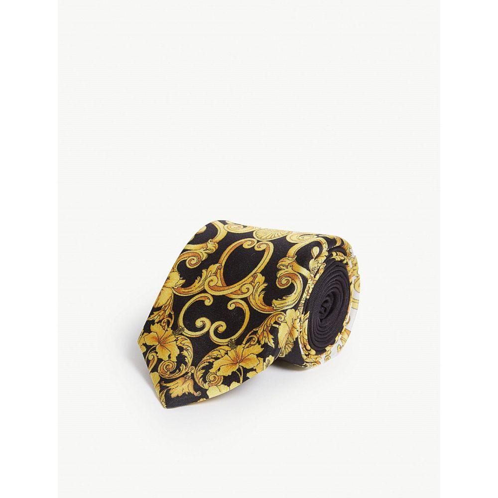 ヴェルサーチ versace メンズ ネクタイ【baroque silk tie】Gold