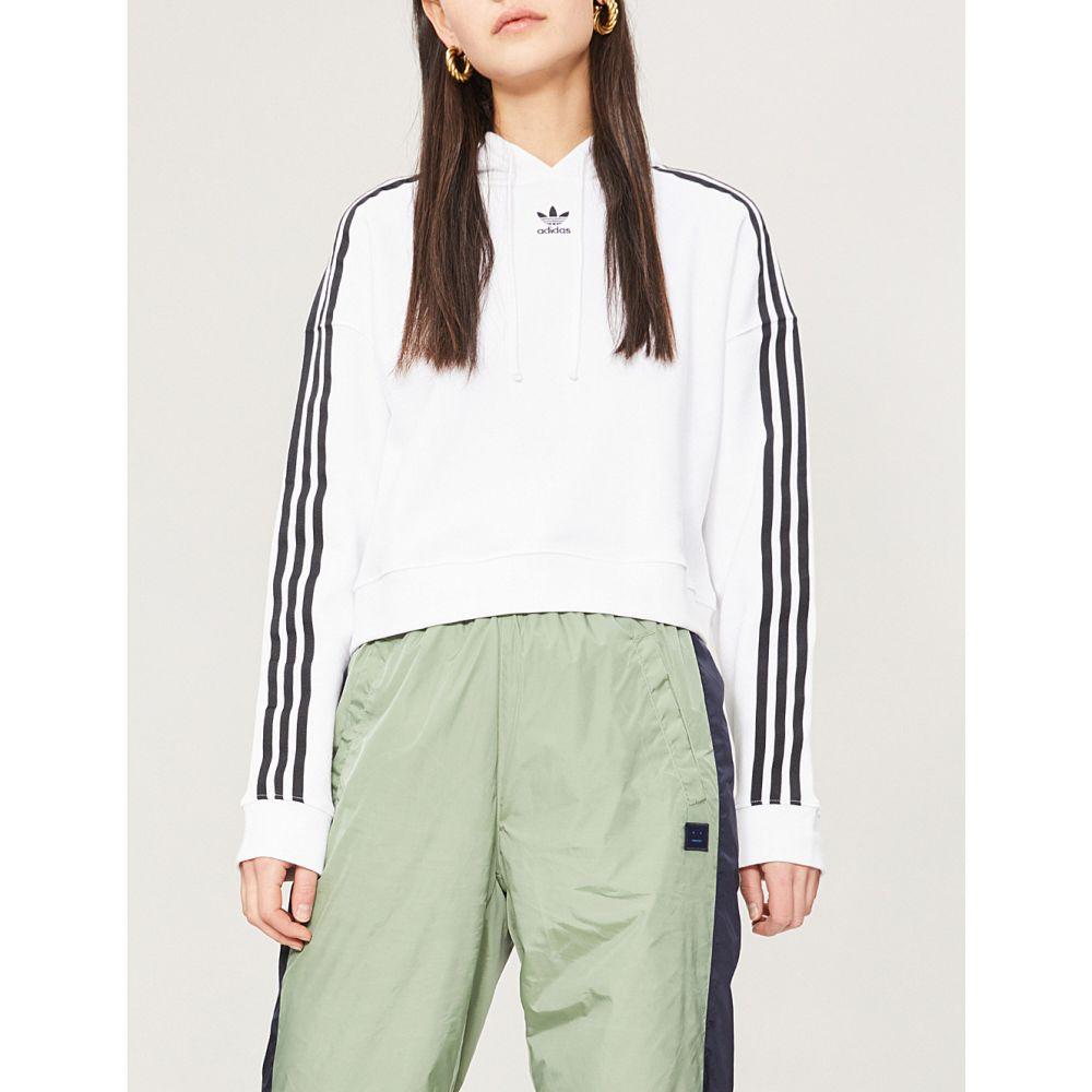 アディダス adidas originals レディース トップス ベアトップ・チューブトップ・クロップド【cropped cotton-jersey hoody】White