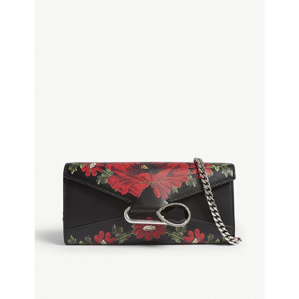 アレキサンダー マックイーン alexander mcqueen レディース 財布【floral wallet-on-chain】Black multi