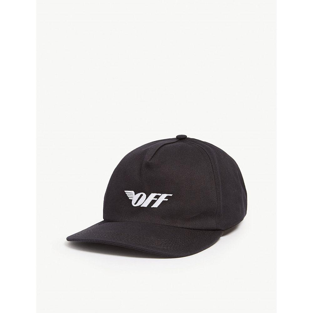 オフホワイト off-white c/o virgil abloh レディース 帽子 キャップ【wings logo cotton baseball cap】Black