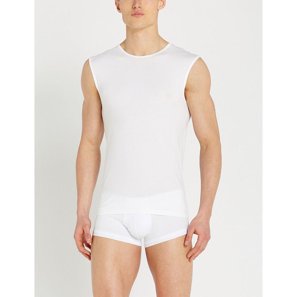 エルメネジルド ゼニア ermenegildo zegna メンズ インナー・下着 パジャマ・トップのみ【solid stretch-cotton pyjama vest】White