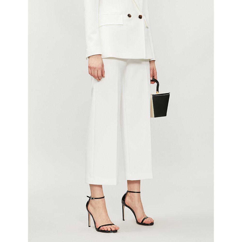 カレンミレン karen millen レディース ボトムス・パンツ クロップド【wide-leg high-rise cropped trousers】Cream
