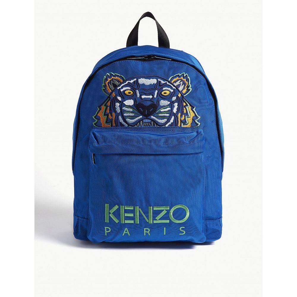 ケンゾー kenzo メンズ バッグ バックパック・リュック【tiger logo backpack】Blue green