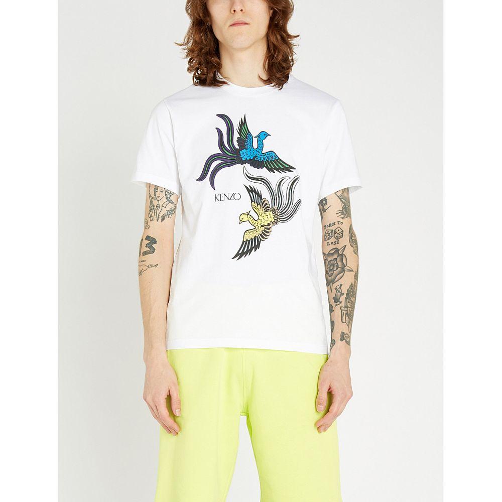 ケンゾー kenzo メンズ トップス Tシャツ【phoenix-print cotton-jersey t-shirt】White