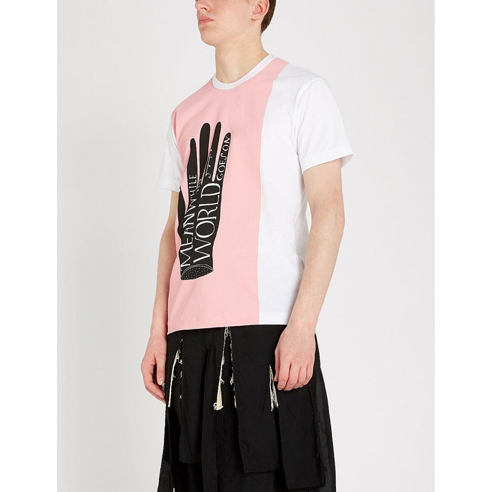 コム デ ギャルソン comme des garcons homme plus メンズ トップス Tシャツ【graphic-print cotton-jersey t-shirt】White
