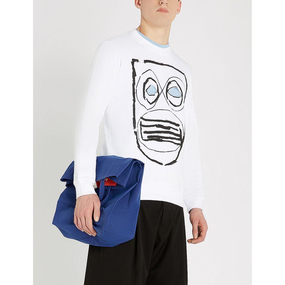 コム デ ギャルソン comme des garcons shirt メンズ トップス スウェット・トレーナー【graphic cutout animal-print cotton-jersey sweatshirt】White print