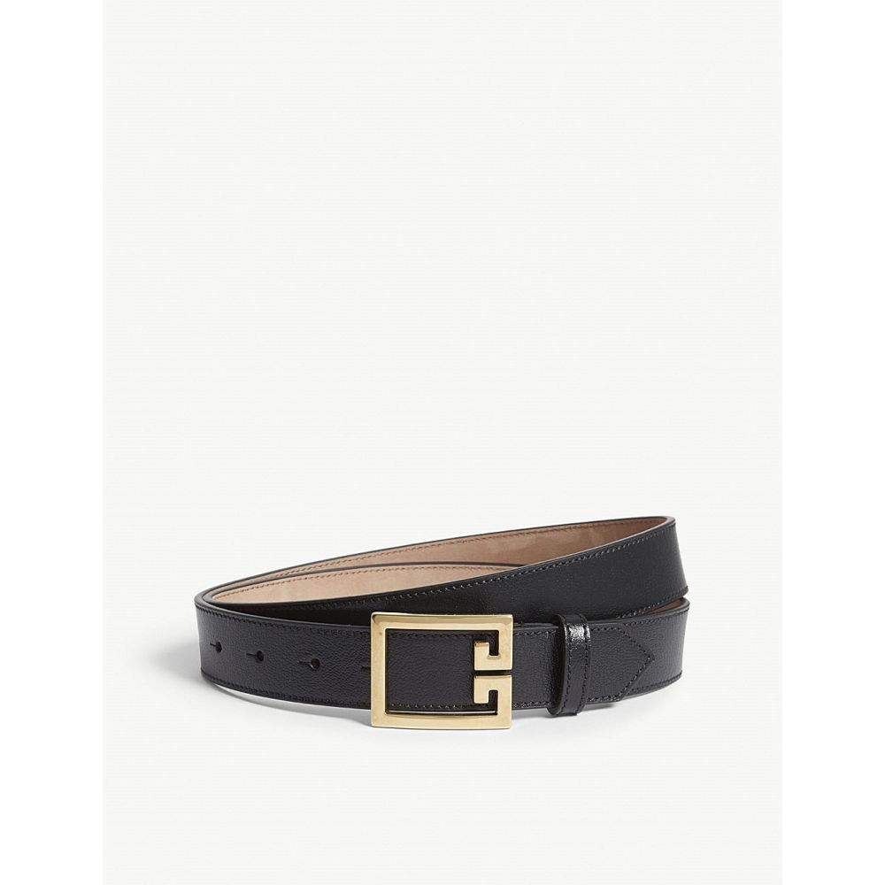 ジバンシー givenchy レディース ベルト【logo-buckle leather belt】Black