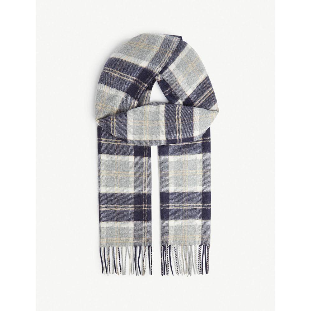 ジョンストンズ johnstons レディース マフラー・スカーフ・ストール【tartan cashmere scarf】Silver bannockbane