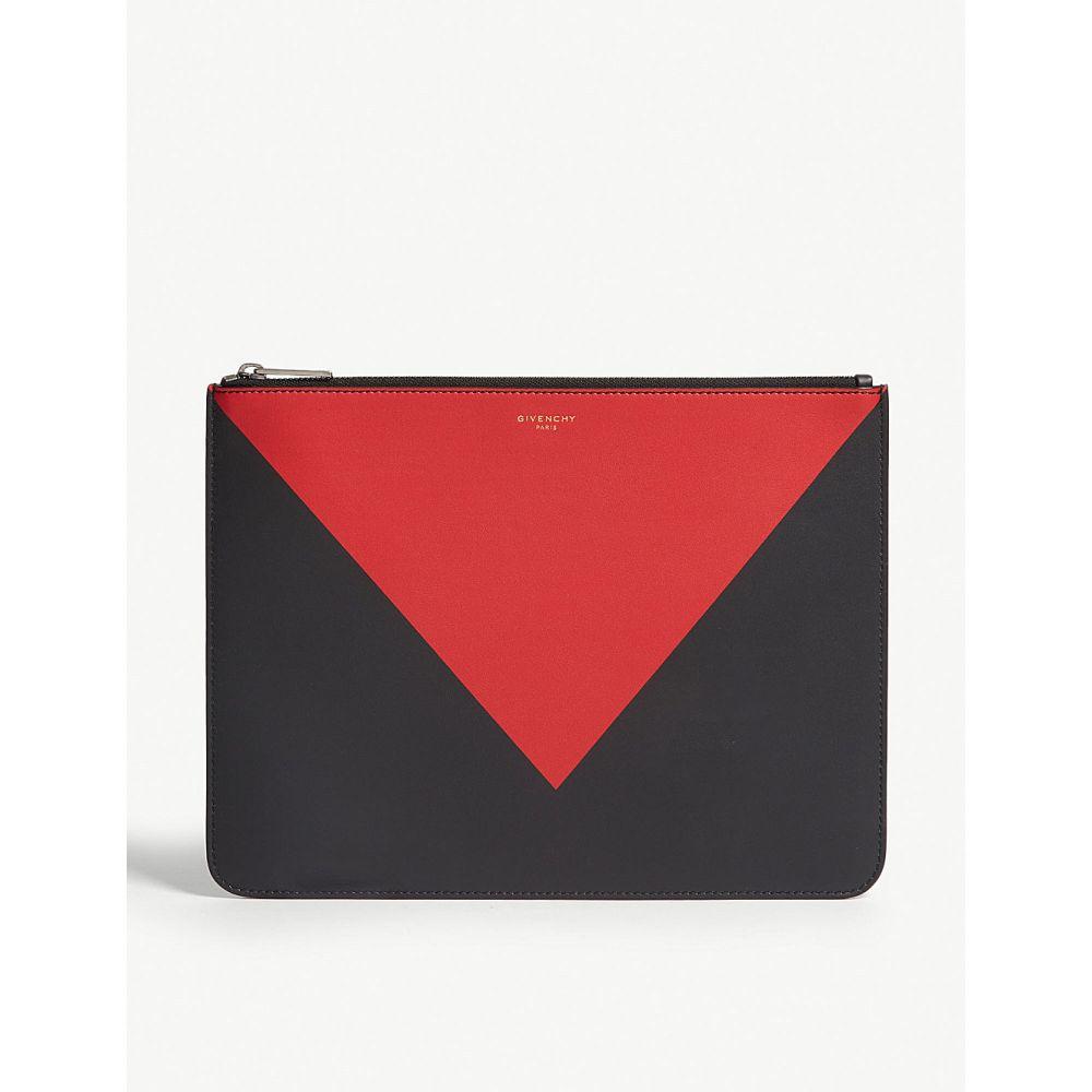 ジバンシー givenchy メンズ ポーチ【leather pouch bag】Black red