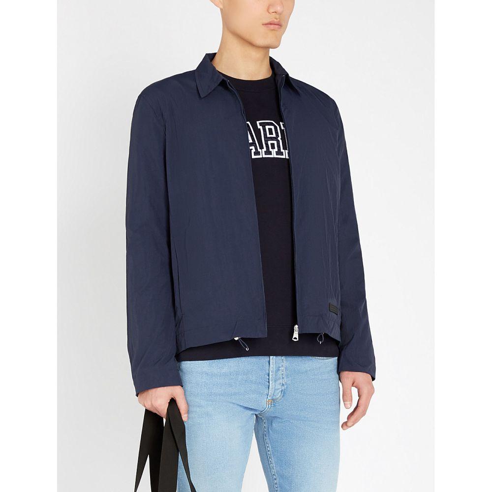 サンドロ sandro メンズ トップス スウェット・トレーナー【paris embroidered cotton-jersey sweatshirt】Navy blue
