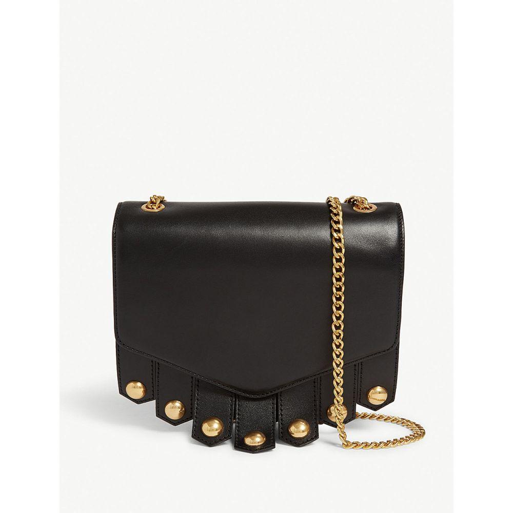 サンドロ sandro レディース バッグ ショルダーバッグ【lou tasselled leather cross-body bag】Black