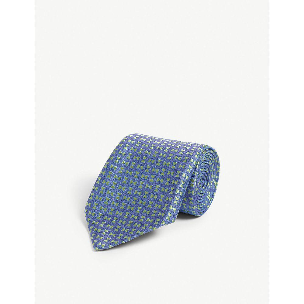シャルベ charvet charvet silk メンズ ネクタイ【bow tie print silk tie tie】Purple green, DEPOS(デポス):4a97146f --- kutter.pl