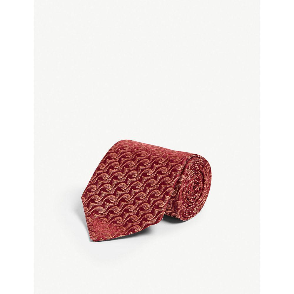 シャルベ charvet メンズ ネクタイ【silk patterned tie】Red blue