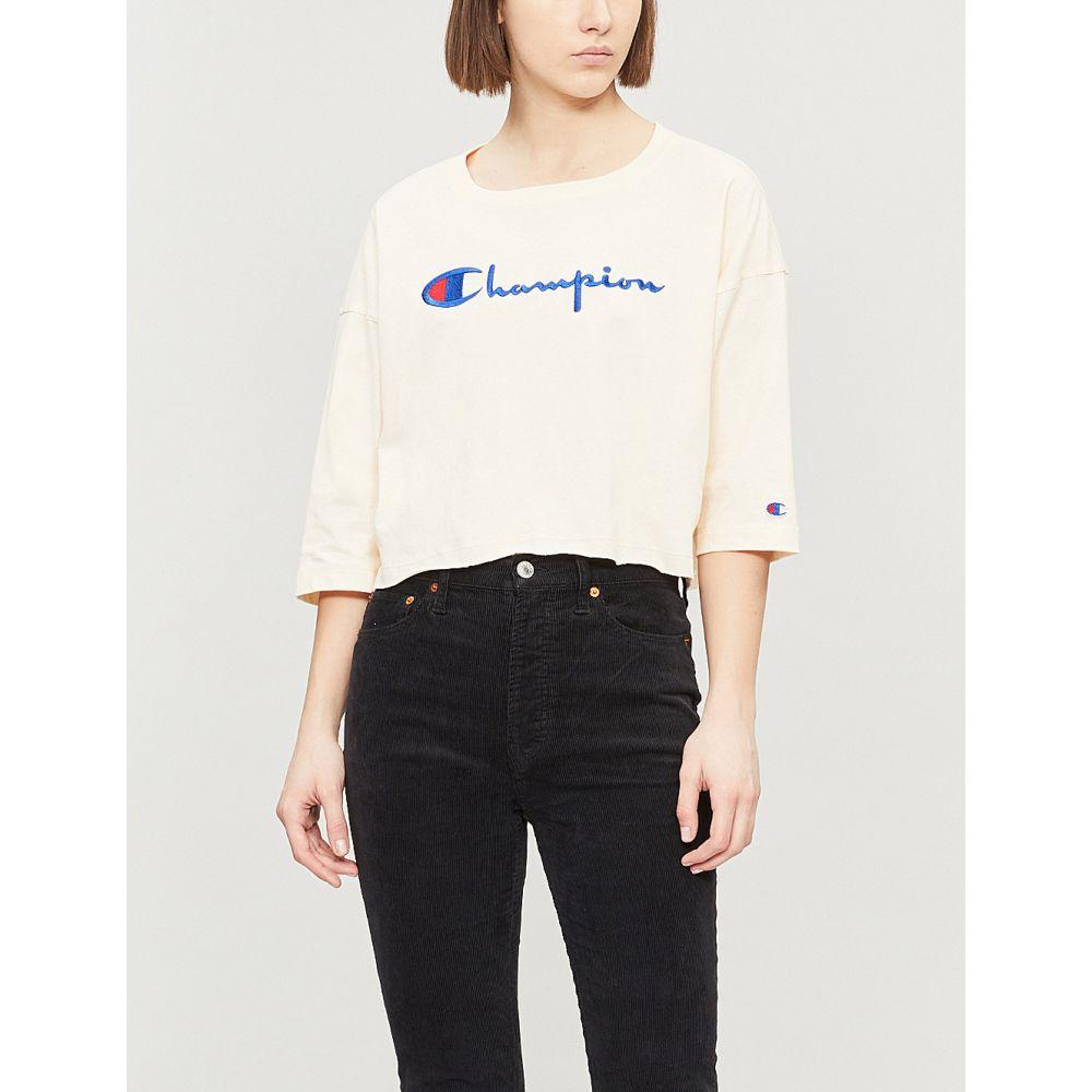 チャンピオン champion レディース トップス ベアトップ・チューブトップ・クロップド【cropped logo-embroidered cotton-jersey t-shirt】Vnc