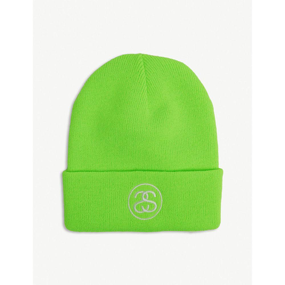 ステューシー stussy メンズ 帽子 ニット【logo beanie】Green