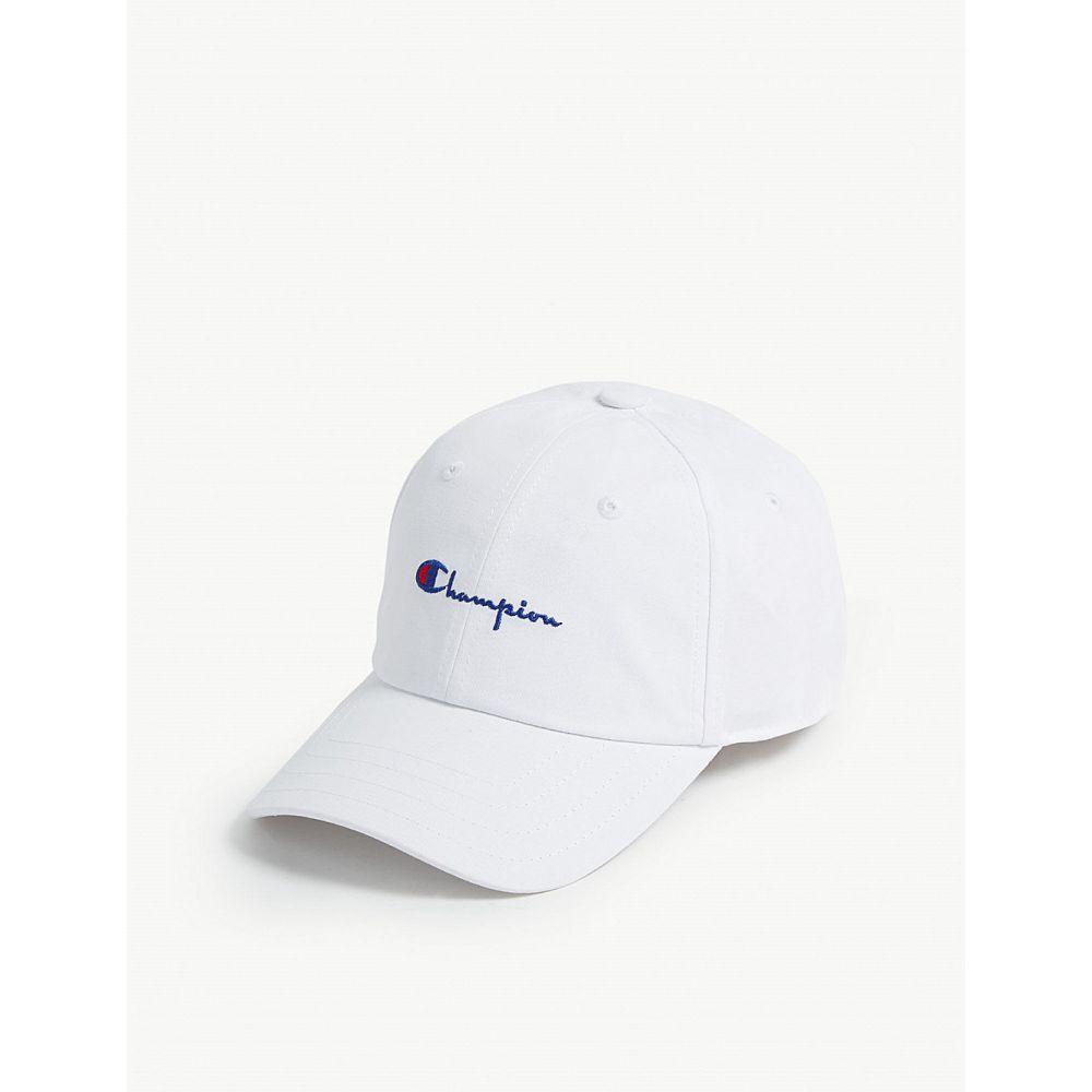 チャンピオン champion レディース 帽子 キャップ【cotton cap】White