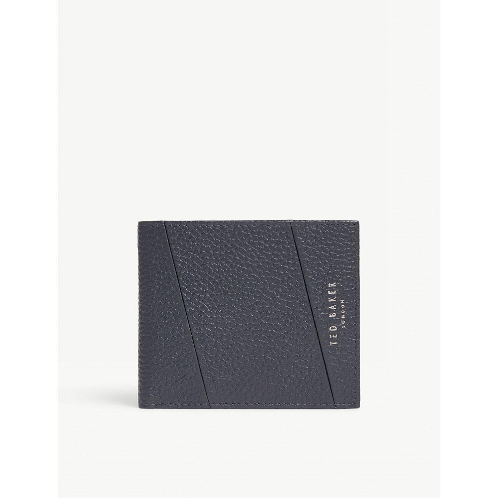 テッドベーカー ted baker メンズ 財布【leather bifold wallet】Navy