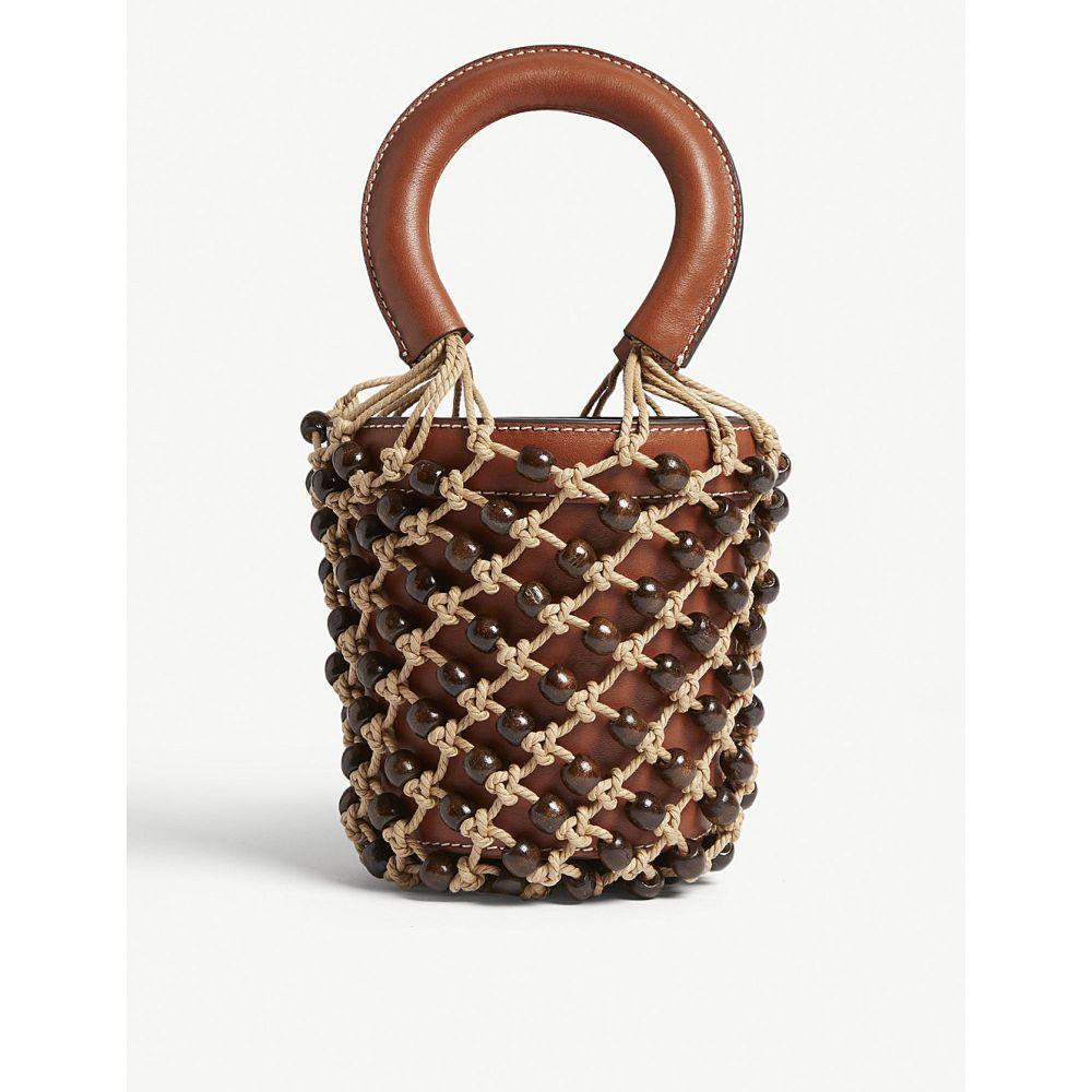 スタッド staud レディース バッグ ハンドバッグ【mini beaded moreau bag】Brown/nat/brown bead