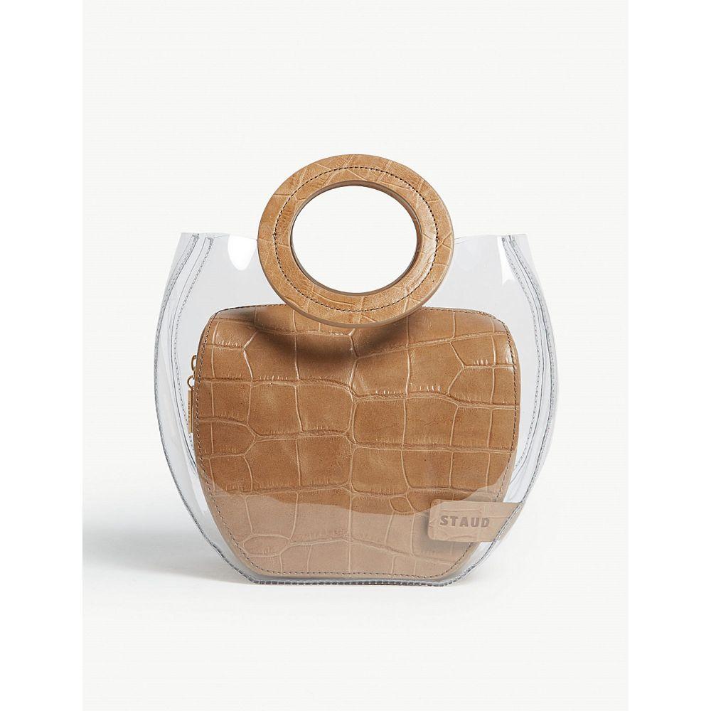 スタッド staud レディース バッグ トートバッグ【frida croc-embossed leather and pvc tote】Clear/camel