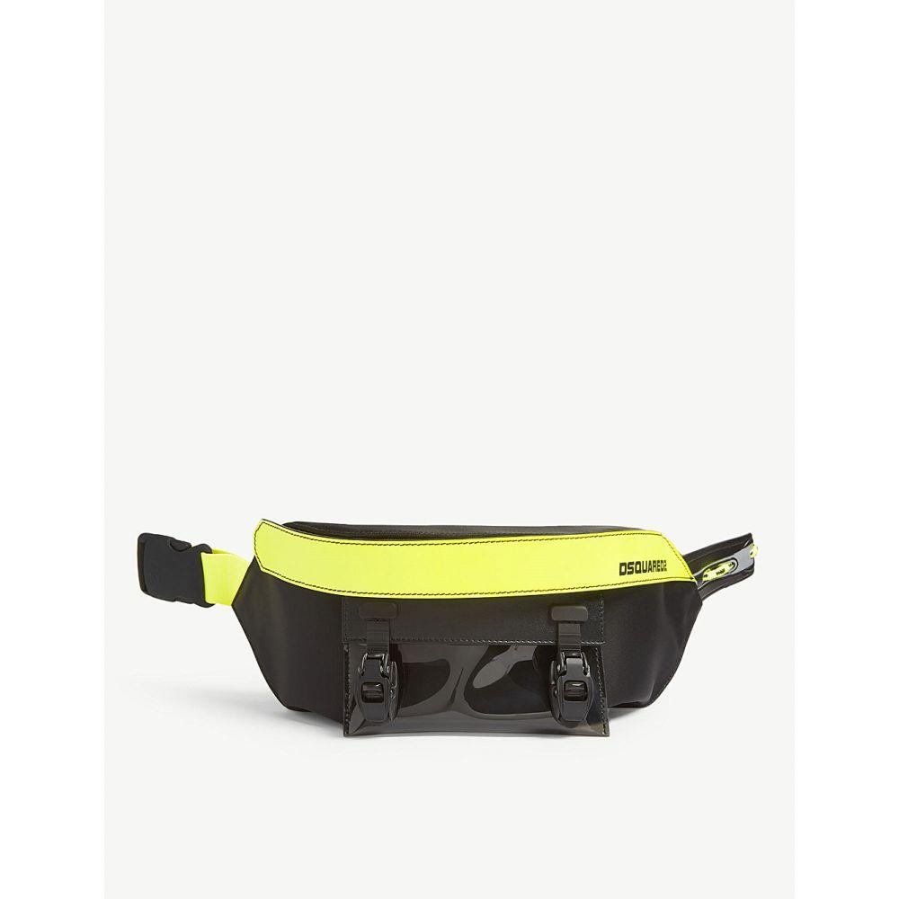 ディースクエアード dsquared2 acc メンズ バッグ ボディバッグ・ウエストポーチ【nylon belt bag】Black yellow