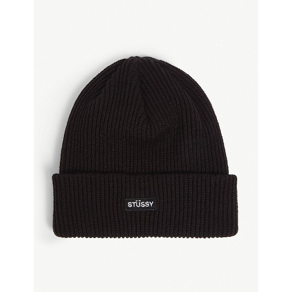 ステューシー stussy メンズ 帽子 ニット【logo patch beanie】Black