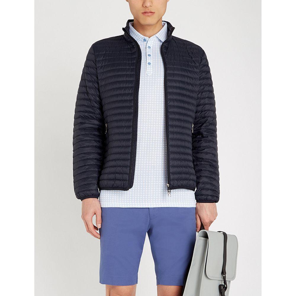テッドベーカー ted baker メンズ トップス ポロシャツ【flee geometric-pattern cotton polo shirt】Blue